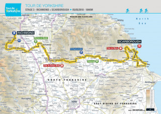 2018 Tour de Yorkshire stage three map
