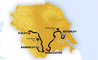 2018 Women's Tour de Yorkshire overview map