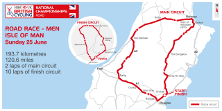 Men's road race course map for the 2017 HSBC UK | National Road Championships
