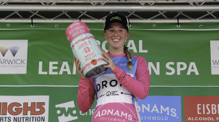 Hannah Barnes leads the Best British Rider competition in the women's tour