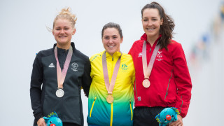 Dani Rowe wins bronze at the 2018 Commonwealth Games in the Gold Coast, Australia.