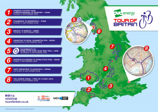 The route for the 2018 OVO Energy Tour of Britain