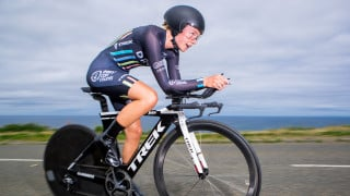 Anna Christain riding to U23 women's gold at the 2017 HSBC UK National Road Championships time trial.