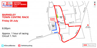 Circuit Series: Barnsley Town Centre Race Map - Round 5