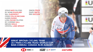 Great Britain Cycling Team for the 2018 UCI Para-cycling Road World Cup.