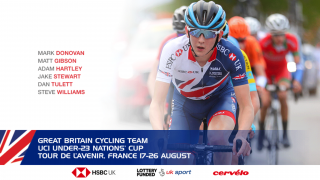 Great Britain Cycling Team for the 2018 Tour L'Avenir.