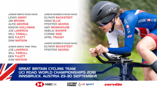 GBCT team for the 2018 UCI Road World Championships.