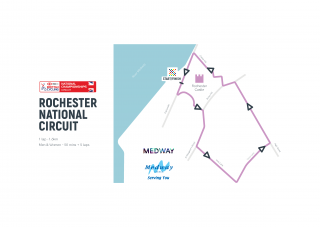 National Circuit Championships 2019 route in Rochester.