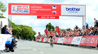 Lizzie Deignan (nee Armitstead) winning the HSBC UK National Road Championships in Isle of Man 2017.