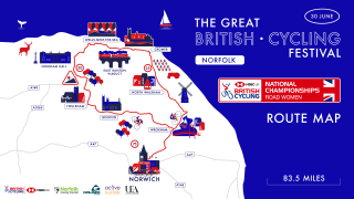 Women's Road Route - National Road Championships 2019.