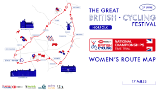 Women's TT Route - National Road Championships 2019.