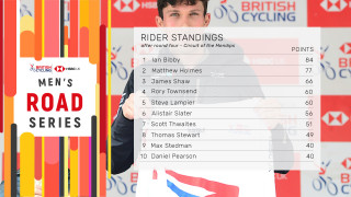 Rider Standings - National Road Series after round four.