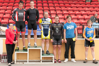 Photo: The top six in the sprinters league race get their prizes