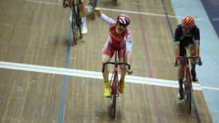 Stewart's day was to get even better as took a second gold with an excellent victory in the men's scratch race.