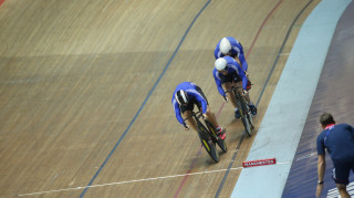 Philip Hindes, Jason Kenny and Matt Crampton had too much quality in the men's team sprint