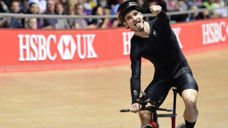 Brother NRG Driverplan's Daniel Bigham celebrates a hat-trick of titles at the 2017 HSBC UK | National Track Championships