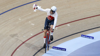 Charlie Tanfield wins the Commonwealth Games individual pursuit gold