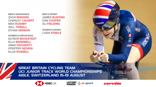 Great Britain Cycling Team for the 2018 UCI Junior Track World Championships.