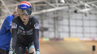 Ellie Russell at the HSBC UK Junior and Youth National Track Championships.