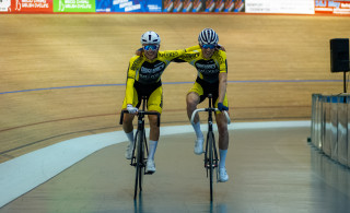 2019 Youth and Junior National Track Championships - Madison Winners - Male Junior - Lewis Askey (Backstedt Cycling) and Alfred George (Discovery Junior CC)