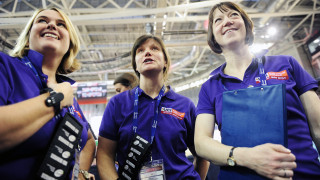 Volunteers at the UCI Track Cycling World Cup in Glasgow