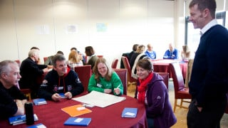 Volunteers at a HSBC UK Go-Ride and Commissaires Conference