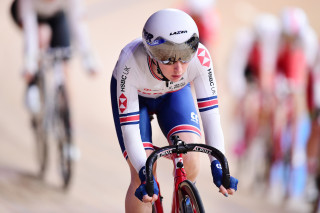 Laura Kenny finished fourth in the scratch race on day one of the UCI Track Cycling World Championships in Berlin
