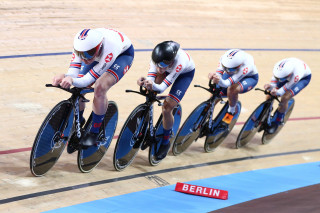 The women's team pursuit line-up qualified second fastest on day one of the UCI Track Cycling World Championships in Berlin