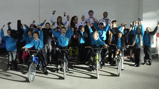 Go-Ride schools meet GB BMX team