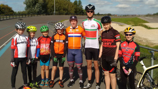North Wales Track riders meet British National Tandem Sprint Champion
