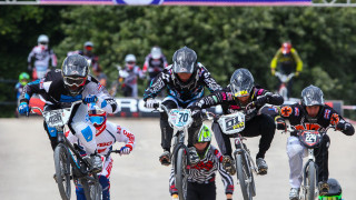 British Cycling BMX Series action in Derby