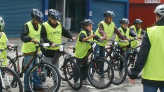 Stockport youngsters get on their bikes