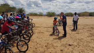 Cycle coaching success in Namibia