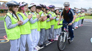 Local primary school enjoy visit from Great Britain Cycling Team