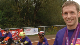 Three time Olympic champion Jason Kenny visits Sheffield Cycle Speedway