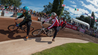 England run Poland close at cycle speedway team world championships