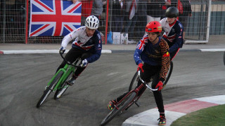 Great Britain Cycling Team cycle speedway riders on top form down under
