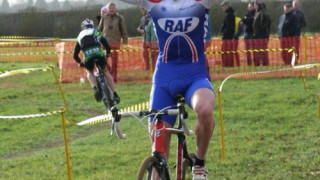 Cross: Dan Lewis (RAF CC) flies to Wessex win
