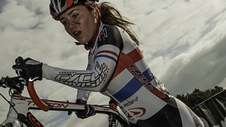 Under 16 Champ Abby Mae Parkinson makes an impression in the sands of Belgian 'cross