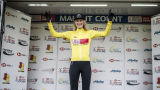 A 'dream come true' to hold the the leader's jersey says Sophie Thackray