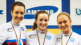Elinor Barker gets gold as Becky James collects her second championship medal