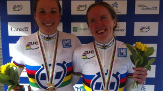 Lora Turnham and Corrine Hall win tandem time trial world title