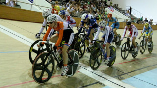Great Britain's Grace Garner currently second place in the junior women's omnium at European track championships
