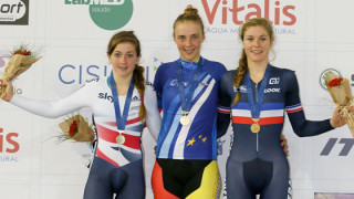 Grace Garner wins junior omnium silver on final day of European track championships