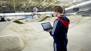 Unmanned aircraft technology keeps Great Britain Cycling Team BMX riders on track for gold