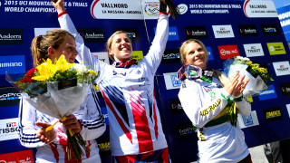 Atherton wins third downhill mountain bike world title in Great Britain Cycling Team double