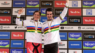 Atherton and Hart shine to win downhill mountain bike world titles in British double