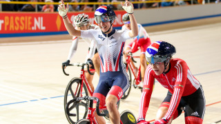 Barker wins gold with points race masterclass at Tissot UCI Track Cycling World Cup