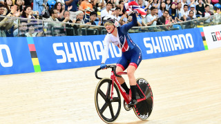 GB's Barker wins gold in epic points race at UCI Track Cycling World Championships