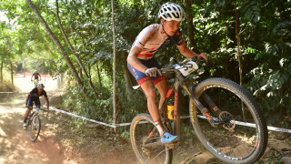 Britain's Clacherty battles back from crash for 28th at UCI MTB World Championships